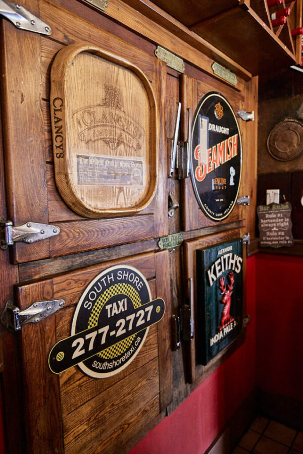 Antique beer placards